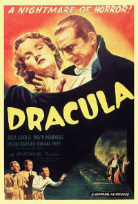 A vintage 1931 poster of the Hollywood adaptation of Dracula