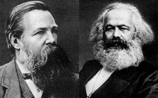 Friedrich Engels and Karl Marx