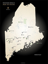 Stephen King's Map of Maine