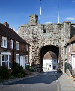 Rye city gate and wall, medieval fortification