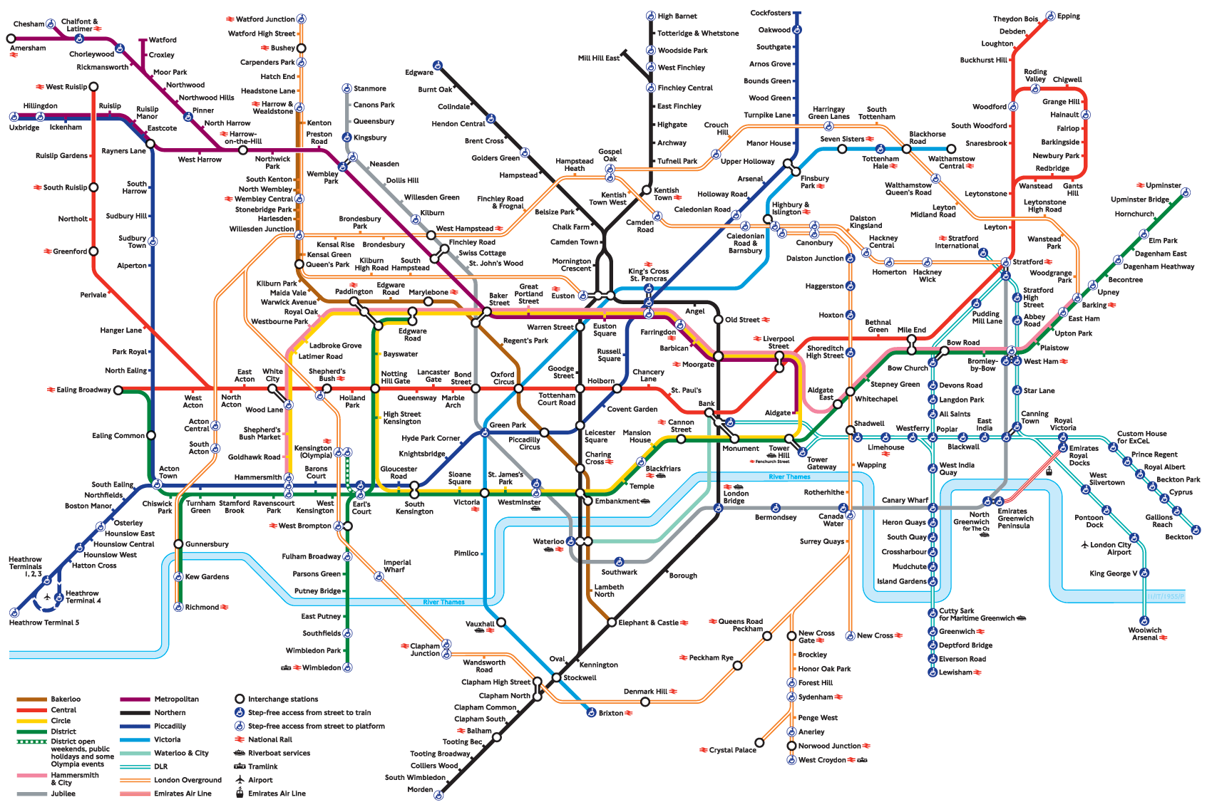 Map of The Tube