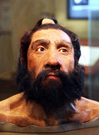Recreation of Neanderthal male