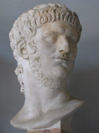 A bust of Emperor Nero
