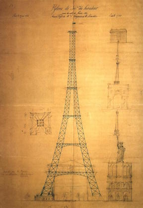Drawing of the Eiffel Tower