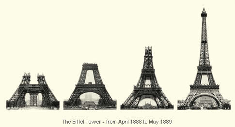 Phases of the Eiffel Tower