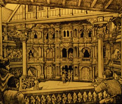 Drawing of the Globe Theatre