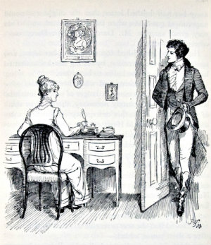 Scene from Pride and Prejudice one of the more famous romance novels