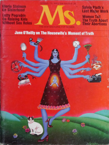 The first issue of Ms. magazine, published in 1972