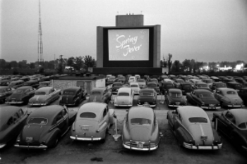 A drive-in theater