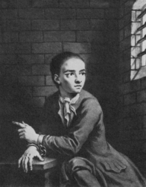 Jack Sheppard, in Newgate Prison awaiting execution