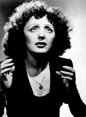 French singer Edith Piaf