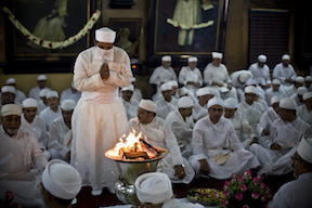 Zoroastrian Priest with Fire