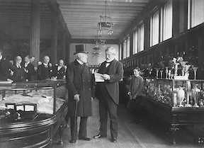 Charles Lewis Tiffany at His Store