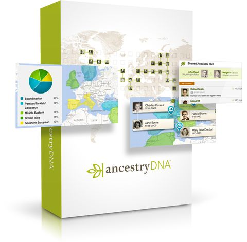 DNA kit from Ancestry.com