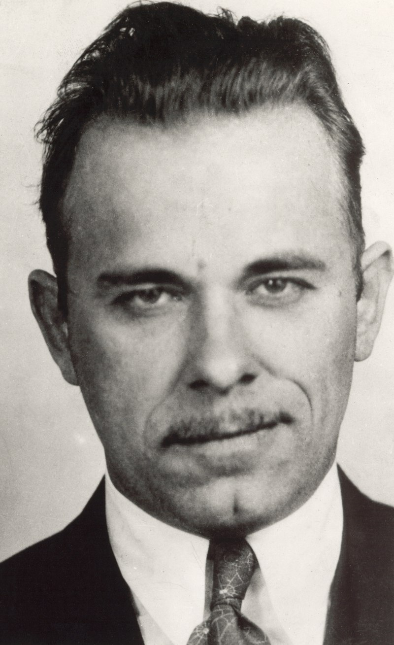 Mugshot of notorious gangster John Dillinger