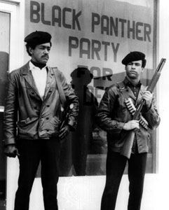Black Panther Party founders Bobby Seale and Huey P. Newton