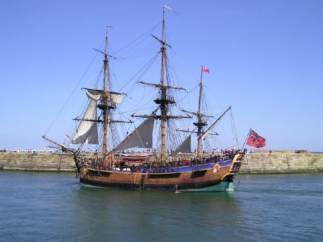 Replica of the HM Bark Endeavour