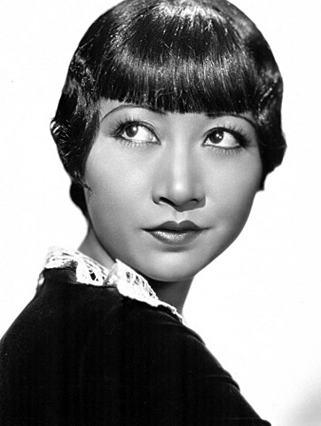 Black and white publicity still of Anna May Wong