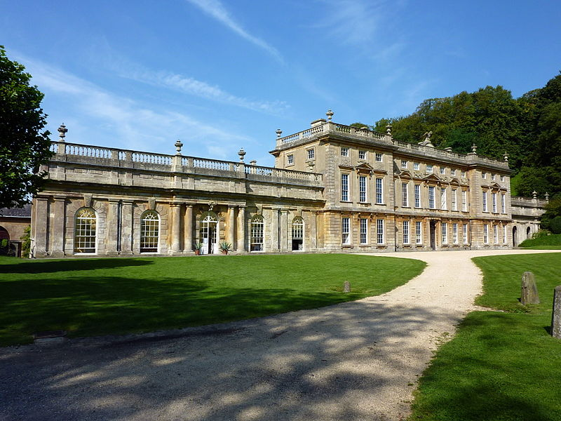 Exterior of Dyrham Park, the house used as a film location for Remains of the Day