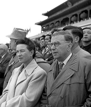 Simone de Beauvoir and Jean Paul Sartre
