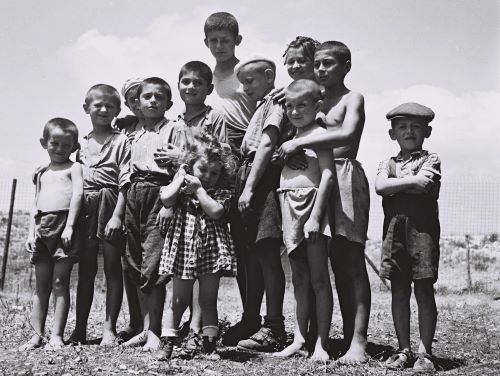 A Group of Orphaned Holocaust Survivors, 1944