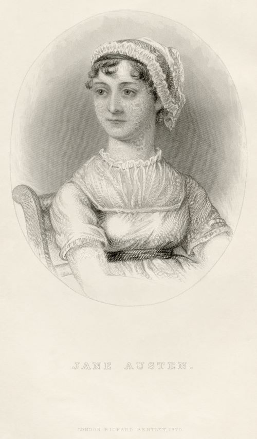 Portrait of Jane Austen from her nephew's memoir