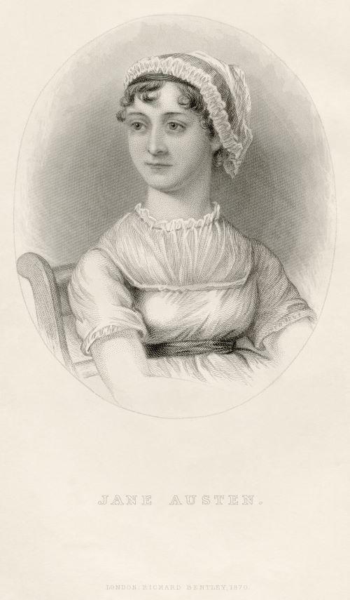 Portrait of Jane Austen from her nephew's memoir