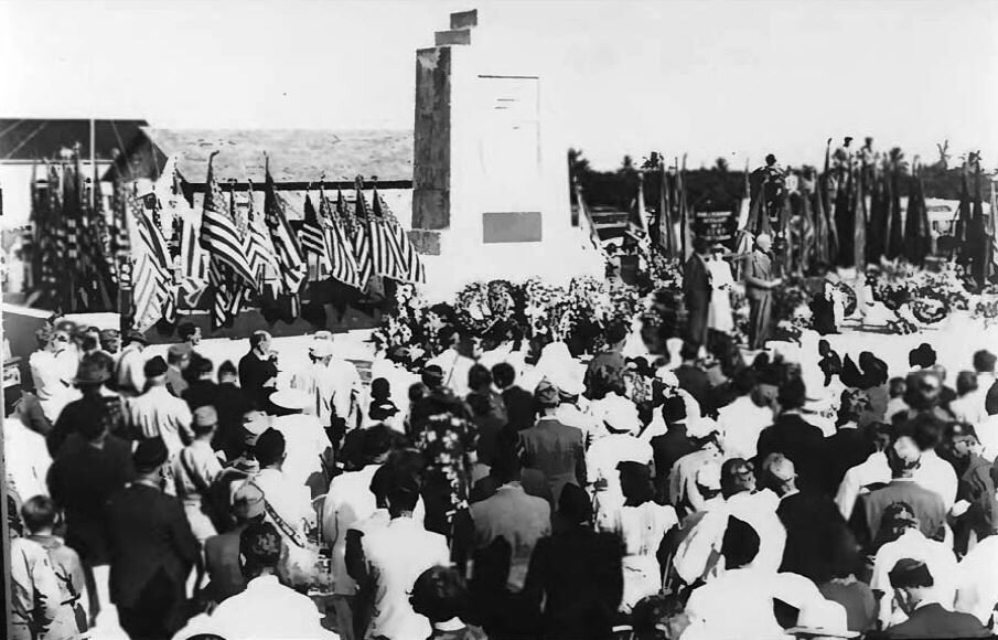 Florida Keys Memorial dedication, 1937