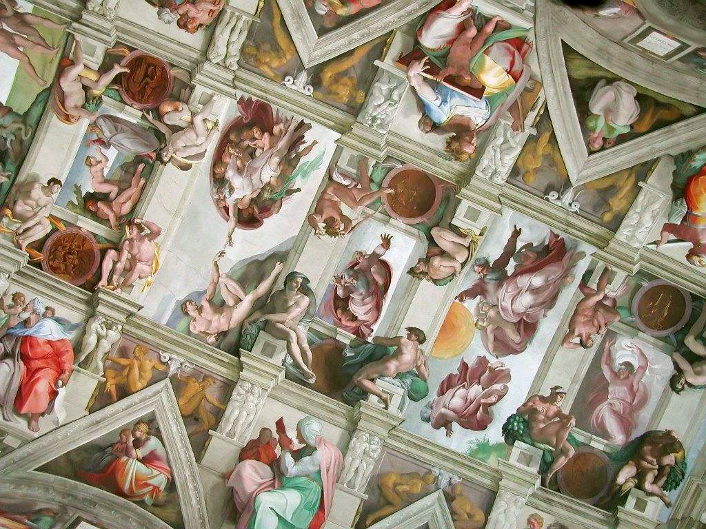 Section of the Sistine Chapel ceiling