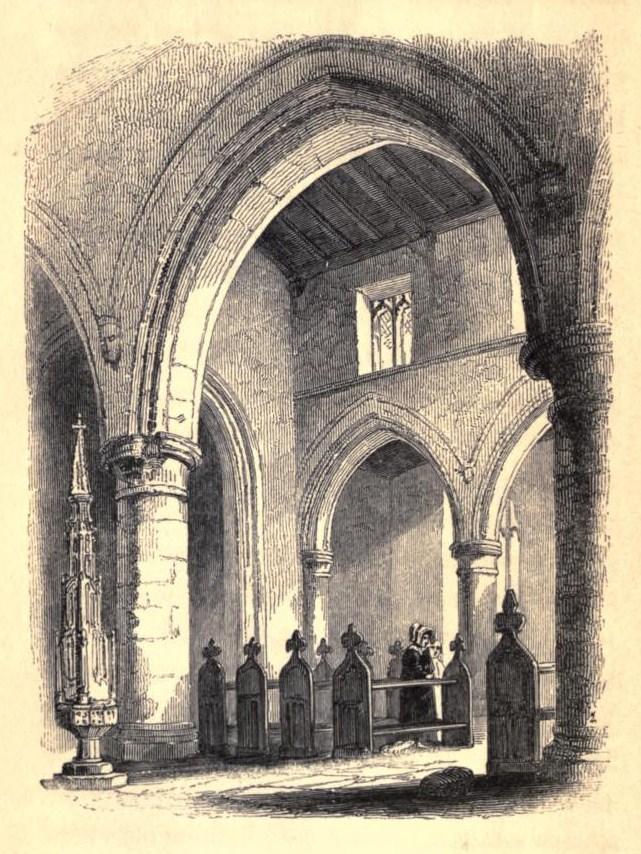 Illustration of church pews, 1842