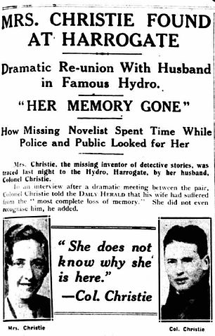 Article about Agatha's reunion with Archie after her disappearance