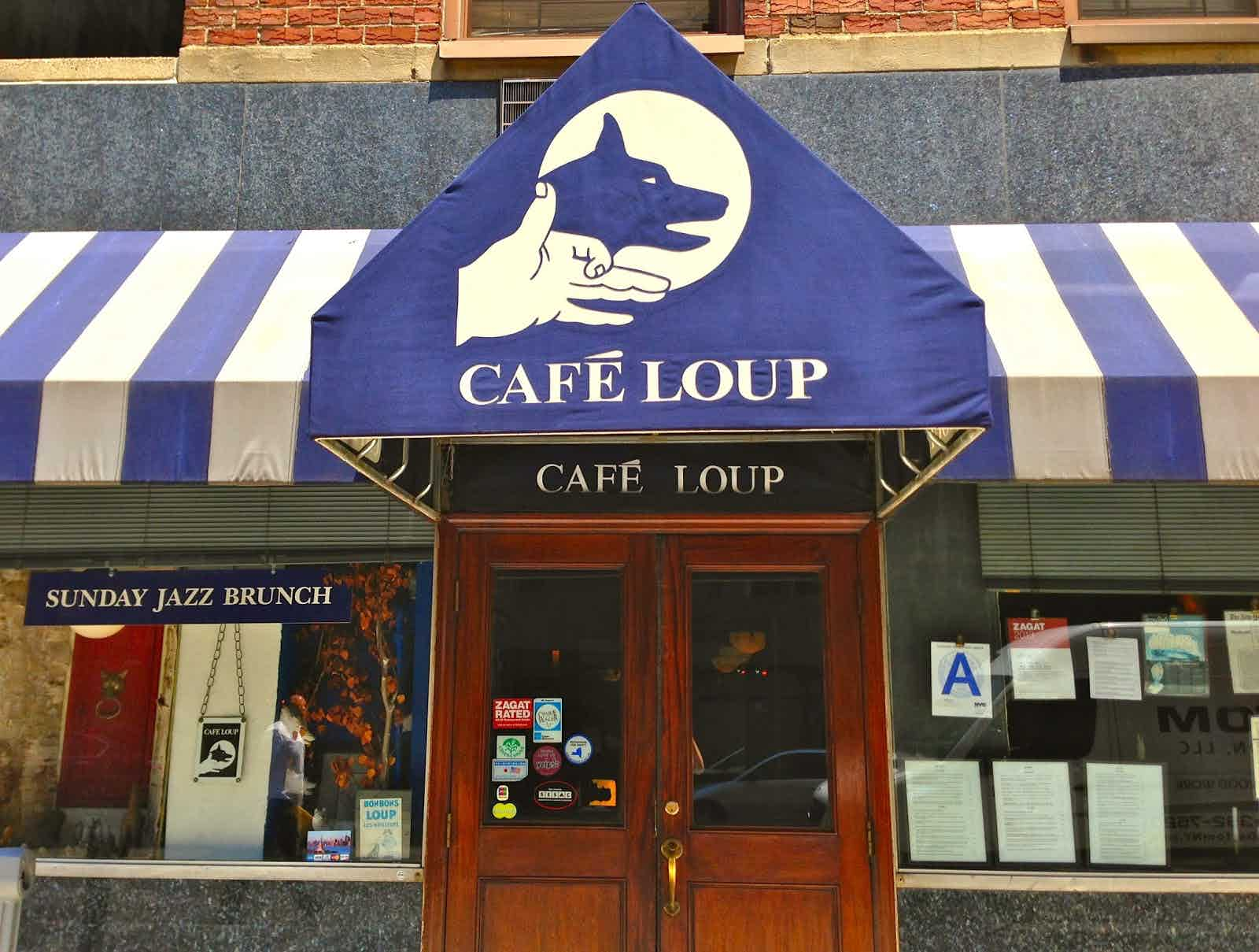 Exterior of Cafe Loup