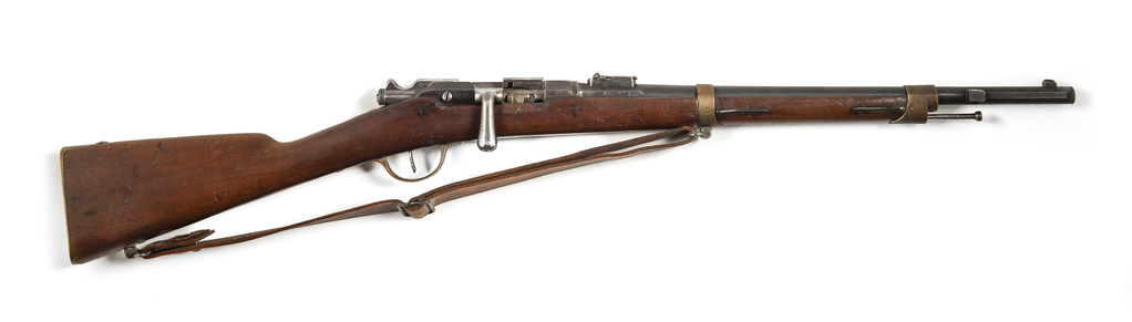 1874 Fusil Gras rifle with walnut stock and 20 inch barrel