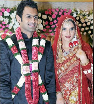 the wedding of Indian tennis player Sania Mirza and Pakistani cricketer Shoaib Malik
