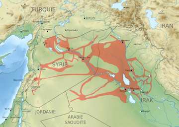 ISIS Territory Map (2015)