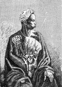 Drawing of Sengalese griot
